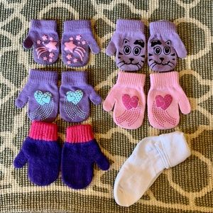 5 Pack of Toddler Mittens Size 2-5 Years